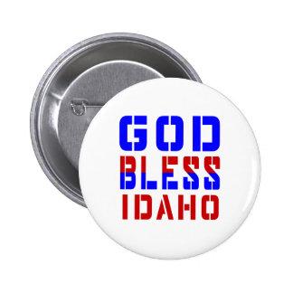 God Bless Idaho 2 Inch Round Button