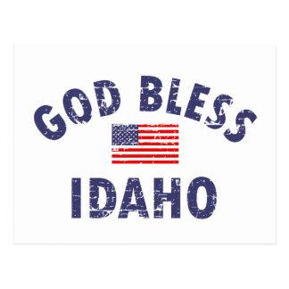God bless IDAHO Postcard