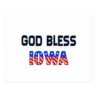 God Bless Iowa Postcard