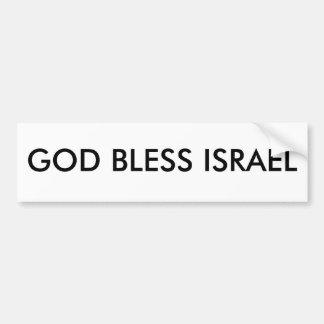 GOD BLESS ISRAEL BUMPER STICKER