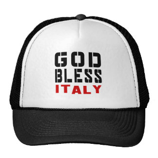 God Bless Itlay Trucker Hat