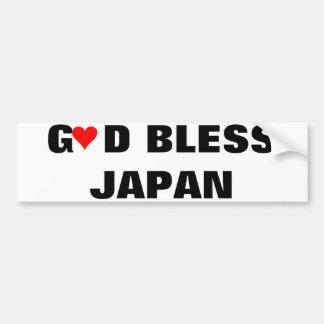 GOD BLESS JAPAN BUMPER STICKER
