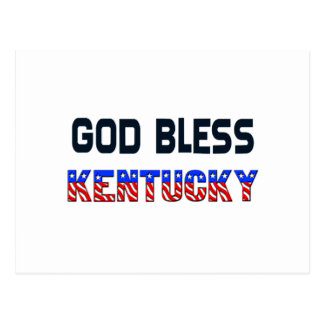 God Bless Kentucky Postcard