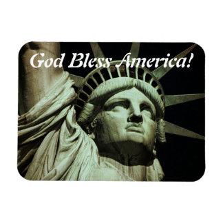 God Bless Liberty Rectangular Photo Magnet
