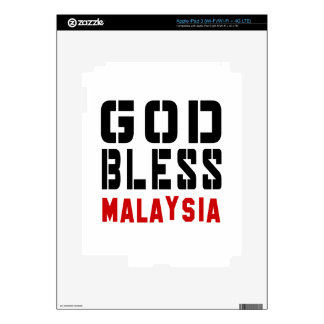 God Bless Malaysia Decals For iPad 3