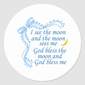 God Bless Me Classic Round Sticker