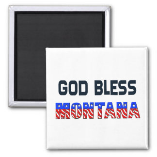 God Bless Montana Magnet