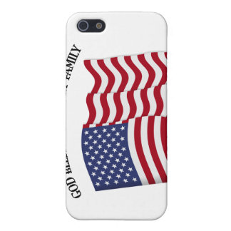 GOD BLESS MY MILITARY FAMILY with US flag iPhone SE/5/5s Case