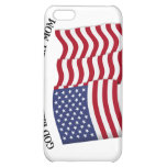 GOD BLESS MY MILITARY MOM with US flag iPhone 5C Cover