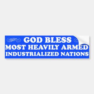 God Bless...Nations Bumper Sticker Car Bumper Sticker