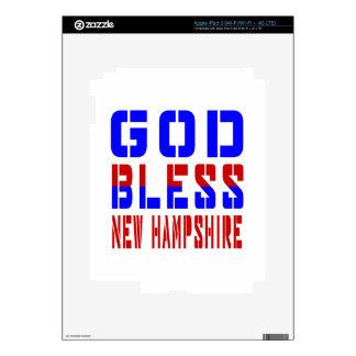 God Bless New Hampshire iPad 3 Skin