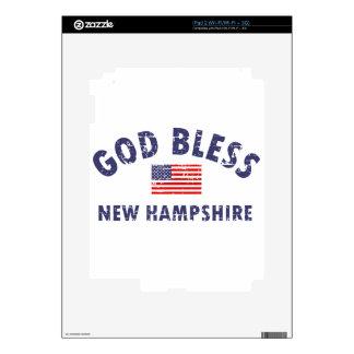 God bless New Hampshire iPad 2 Decal
