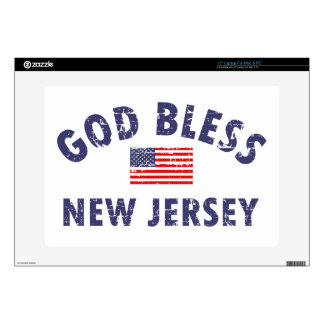 God bless New Jersey Decal For Laptop