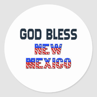 God Bless New Mexico Classic Round Sticker