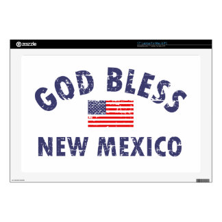 """God bless New Mexico 17"""" Laptop Decals"""