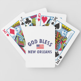 God bless NEW ORLEANS Bicycle Playing Cards