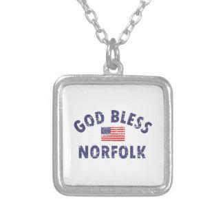 God bless NORFOLK designs Square Pendant Necklace