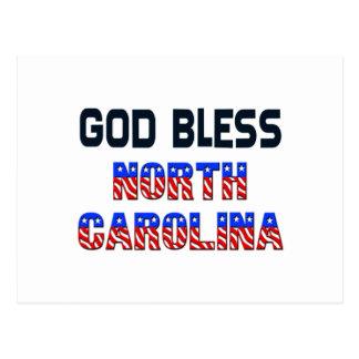 God Bless North Carolina Postcard