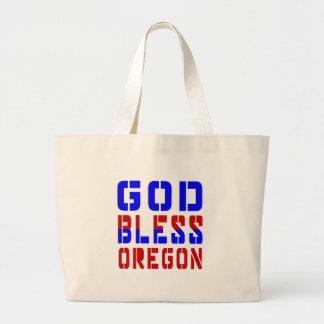 God Bless Oregon Jumbo Tote Bag