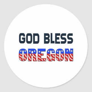 God Bless Oregon Classic Round Sticker