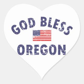 God bless Oregon Heart Sticker