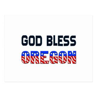 God Bless Oregon Postcard
