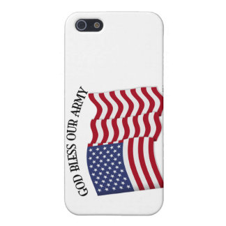 GOD BLESS OUR ARMY with US flag iPhone SE/5/5s Case