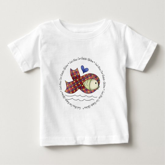 God Bless Our Autisic Children Infant Short Sleeve Baby T-Shirt