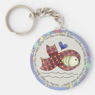 God Bless Our Autisic Children Keychain