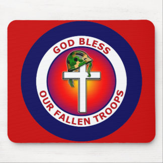 GOD BLESS OUR FALLEN TROOPS MOUSE PAD