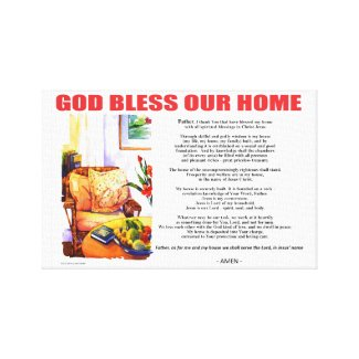 GOD BLESS OUR HOME CANVAS PRINT