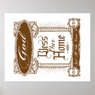 God Bless Our Home Custom Poster