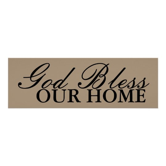 god bless our home wall art decor zazzle. Black Bedroom Furniture Sets. Home Design Ideas