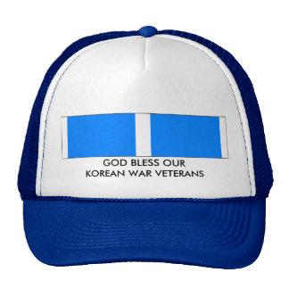 GOD BLESS OUR KOREAN WAR VETERANS TRUCKER HATS