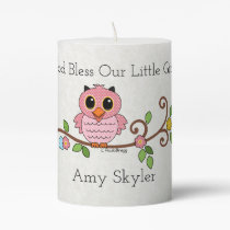 God Bless Our Little Girl: Personalized Pillar Candle