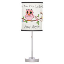 God Bless Our Little Girl: Personalized Table Lamp