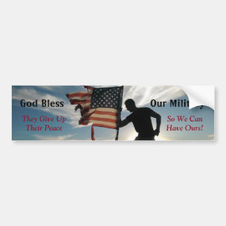 God Bless Our Military Bumper Sticker