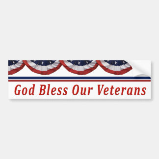 God Bless Our Military Veterans Bumper Sticker