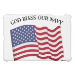 GOD BLESS OUR NAVY with US flag iPad Mini Covers
