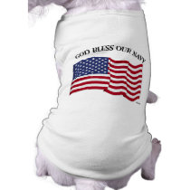GOD BLESS OUR NAVY with US flag Tee