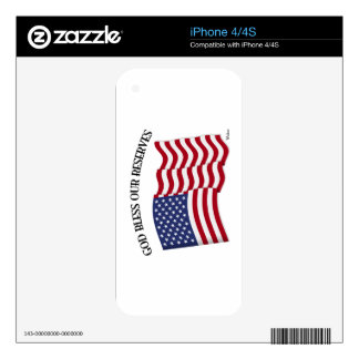 GOD BLESS OUR RESERVES with US flag Skins For The iPhone 4S
