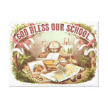 'God Bless Our School' Currier & Ives Canvas Print