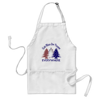 God Bless Our Troops Adult Apron