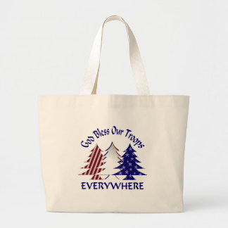 God Bless Our Troops Tote Bag