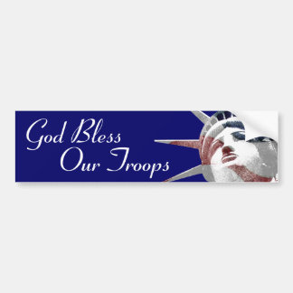 God Bless Our Troops Car Bumper Sticker