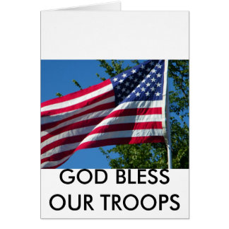 GOD BLESS OUR TROOPS CARDS