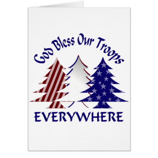 God Bless Our Troops Greeting Cards