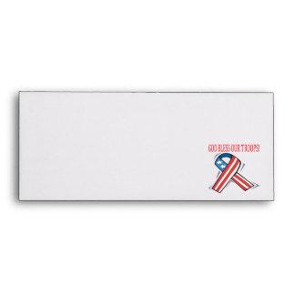 God Bless Our Troops Envelopes