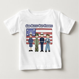 God Bless Our Troops - Infant T-Shirt