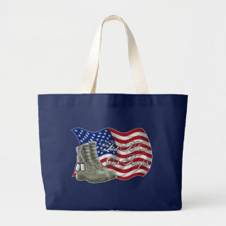 God bless our Troops Large Tote Bag